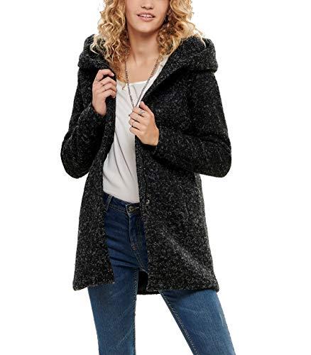 ONLY Onlsedona Boucle Wool Coat Otw Noos Abrigo, Negro (Black Detail:Melange), M para Mujer
