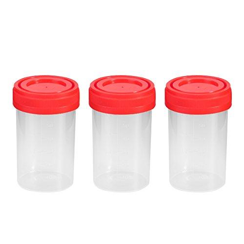 UEETEK Vaso para muestras, 20 piezas Práctico envase de orina de plástico de 60 ml EO estéril sin etiqueta para uso médico de laboratorio (color aleatorio)