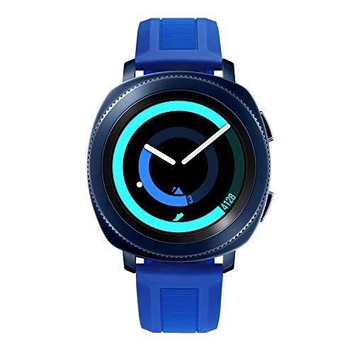 BINLUN Bandas de Reloj compatibles con Samsung Galaxy Watch 42mm/46mm,Active 2,Samsung Gear S3 Classic/Frontier Smartwatch Banda de Goma de Silicona Reemplazo Suave Pulsera de 20mm 22mm para Hombres