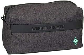SV Werder Bremen Kulturbeutel grau, Waschtasche, Wash Bag - Plus Lesezeichen I Love Bremen
