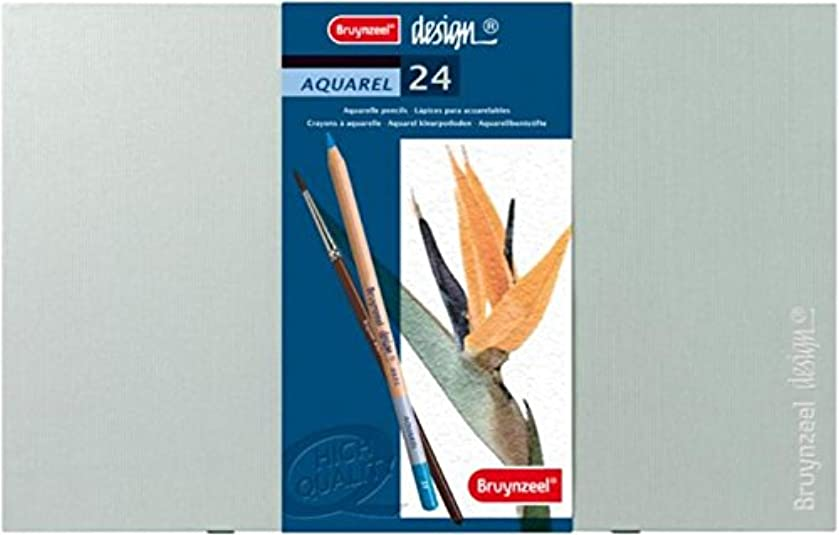 Royal Talens Bruynzeel Aquarelle Pencil Box Set, 24 Assorted Colors (8835H24)