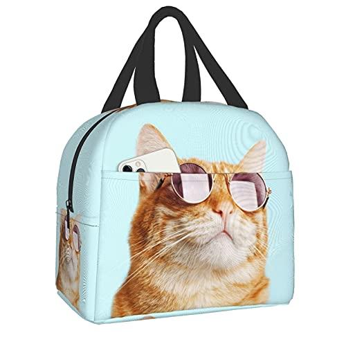 PrelerDIY Lonchera con diseño 3D para gafas de sol, lonchera aislada para mujeres/hombres, bolsas de almuerzo reutilizables, perfectas para la oficina/campamento/senderismo/picnic/playa/viajes