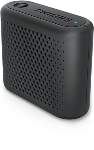 Philips Audio BT55B/00 - Mini Altavoz Bluetooth Inalámbrico Portatil, Compatible con Smartphones, iPhone, Android y Tablet, Negro