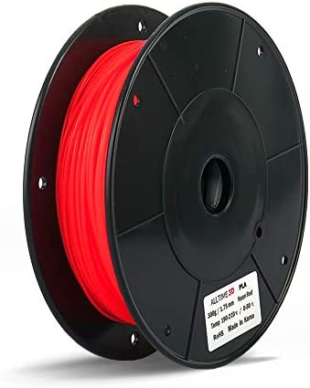 PLA 3D Printing Filament ALLTIME3D Neon Red 300g 0 66lbs 1 75mm Dimensional Accuracy 0 05mm product image