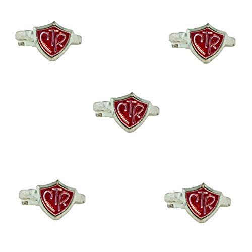 One Moment In Time H14R Size Adjustable 5 Pack Alloy Color Red Rings Mormon CTR LDS