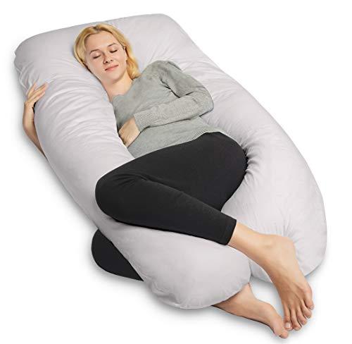en Forme De C Full Body Pregnancy Pillow with Jersey Cover PharMeDoc Coussin De Grossesse De Corps avec Housse en Jersey Cushion /& Pillow for Pregnant Women C Shaped Maternity Support Pillow