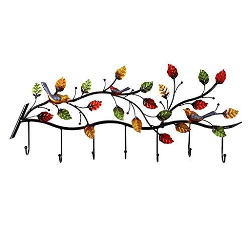 NYKK Perchero de Pie Colgador de Pared de Hierro Forjado Creativo Color Perchero Rama Gancho Metal Percha 57 × 32 cm Chaquetas, Sombreros y más