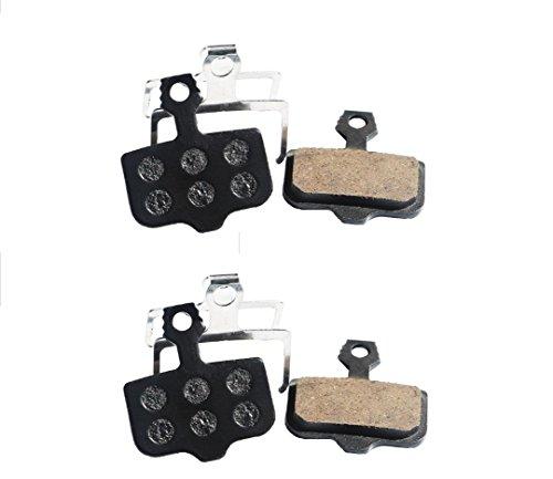 Juscycling Resin Organic Semi-Metal Brake Pads for Avid Elixir R Cr Mag 9 7 5 3 1 Xx X0 World Cup, Noise Control, Smooth Braking, Long Life, Kevlar, Copper, 2 Pairs