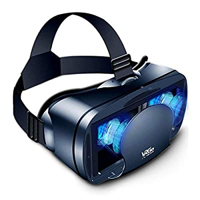 3D Virtual Reality Glasses,VR Headset Full Screen Visual Wide-Angle Soft & Comfortable New 3D VR Glasses for 5-7in Smartphone and iPhone 11/Pro/X/Xs/XR/Max,for Samsung S20/S10/Note10/9/Plus