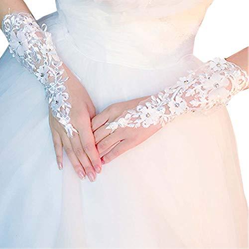 Gants de mariée mariage robe de soirée dentelle longs gants A19