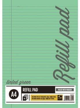 A33® - Recambio de papel tintado (tamaño A4), color verde, color verde Pack de 6 unidades