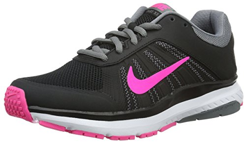 Nike Women's Dart 12 Black/Pnk/Blast/Cl Gry/Drk Gry Running Shoe
