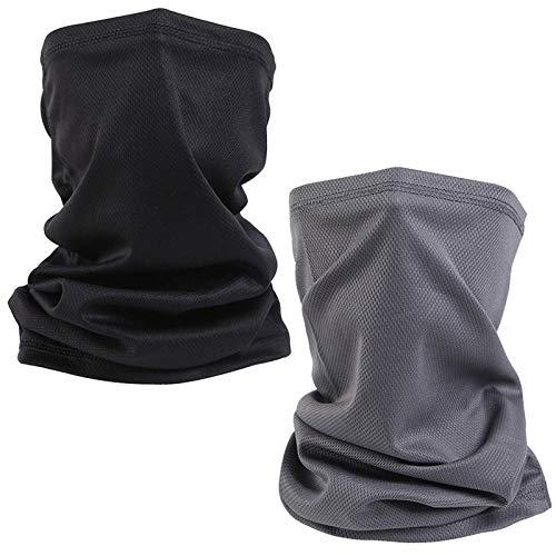 2 piezas bufanda multifuncional de tubo, bufanda de cuello, bufanda de tubo, calentador de cuello,bufanda de tubo a prueba de viento,bufanda de tubo elástica resistente a los rayos UV