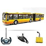 UimimiU Bus de télécommande Radio RC Car City City Camion High Speed Speed School School Bus LED Lights Road Driving Scène Scène Scène Éducatif Jouets Car pour Tous Adultes Garçons Filles