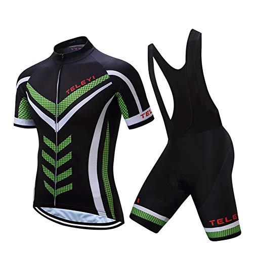 JPOJPO - Juego de camiseta de ciclismo para hombre, manga corta, bicicleta de montaña, ropa de ciclismo y ciclismo