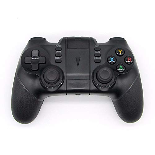 MeterMall Draadloze Bluetooth Game Controller voor iPhone Android Telefoon Tablet PC Gaming Controle Joystick Gamepad Joypad Zwart