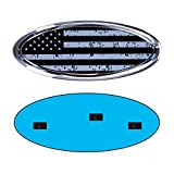 9inch Emblem for Ford, American Flag Front Grille Emblem F150 Emblem Ford Tailgate Emblem Oval 9'X3.5' Fits for 04-14 F250 F350, 11-14 Edge, 11-16 Explorer, 06-11 Ranger