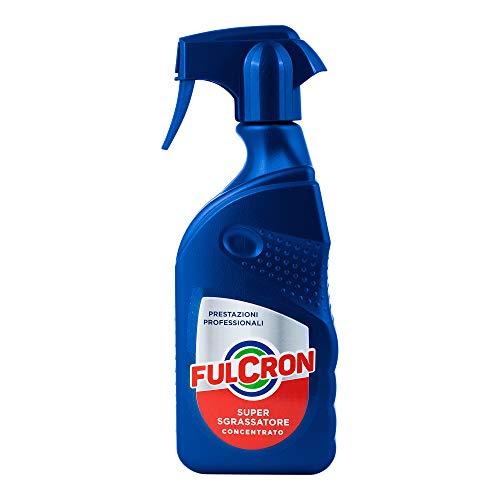 Fulcron Sgrassatore Super Sgrassatore Concentrato 500 ml, spray sgassatore tutte le superfici...