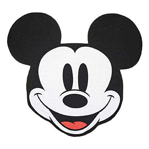 Cerdá 2200004037 Toalla Polyester Mickey, Poliéster, Negro, 70x140cm