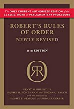 Robert's Rules of Order Newly Revised PDF