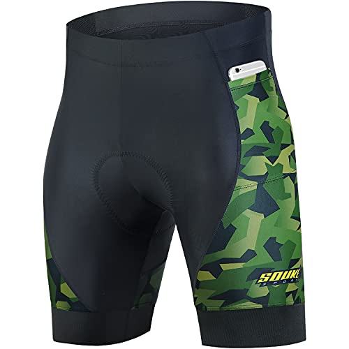 Souke Sports Men's Cycling Shorts 4D Padded Bike Biking Half Pants...