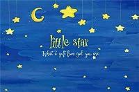 青い空を背景にした新しいファンタジーごみの星子供の誕生日パーティーの写真の背景10x7ftのベビーシャワーパーティーの装飾子供の大人の芸術的なポートレート写真ブースの小道具
