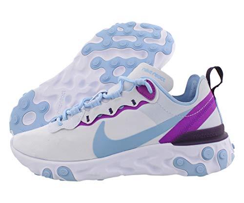 Nike React Element 55 Womens Shoes Size 7.5, Color: Football Grey/Psychic Blue