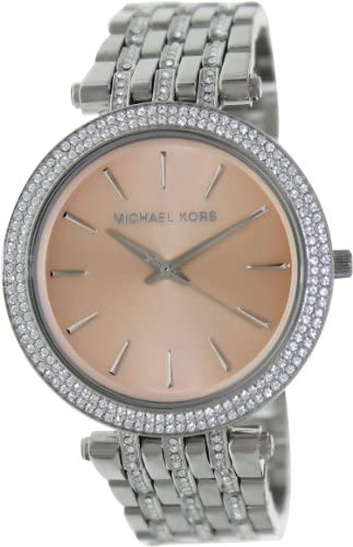 Michael Kors Silver Tone Glitz Rose Dial Darci Watch product image