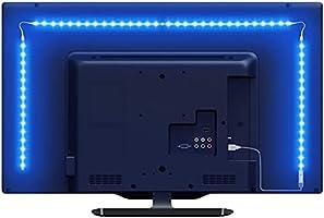 Lepro LED テープライト RGB テレビバックライト 0.5Mx4本 間接照明 5050SMD USB式 RFリモコン付き 3M強力粘着テープ イルミネーション クリスマス飾り パーティー 雰囲気作り