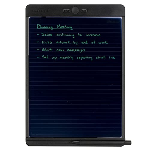 """Boogie Board Blackboard Reusable Notebook with Letter-Size Writing Tablet with Stylus, Instant Erase and Templates (8.5""""x11"""")"""