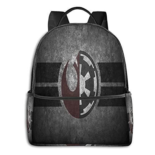 Star Wars Logo Casual Zaino Viaggio Bookbag Con Cerniera Per Business School Lavoro Computer Portatile Bookbag