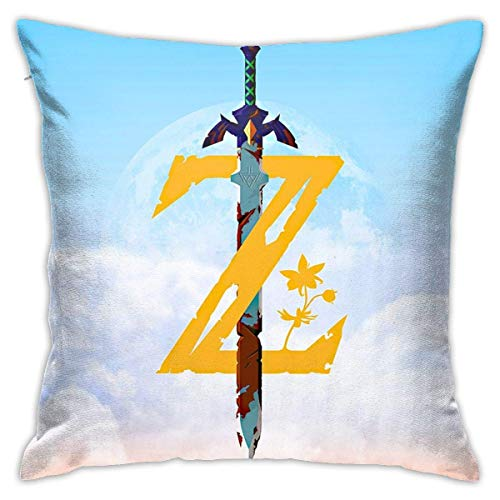 hongze The Legend Zelda Z SwordThrow Pillows Covers Pillow Case Modern Cushion Cover Square Pillowcase Decoration-for Sofa Bed Chair Car 18 x 18 Inch Double-Sided Printing