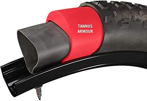 Armour Tannus No-Flat Fahrradreifen-Einsätze, pannensicherer Fahrradschlauchschutz, verhindert flache Dornen und Goatheads, rot, 700 (42-47)