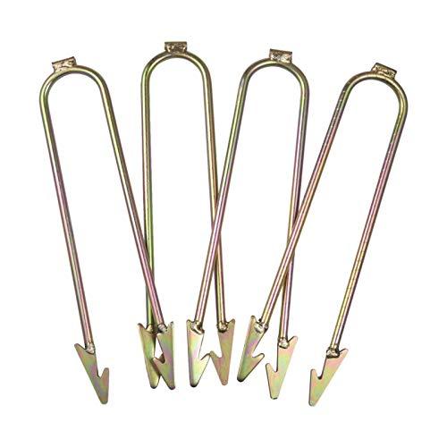 Urisgo Kit de Anclaje de trampolín, Fijaciones de trampolín Fijación de estacas de trampolín con Anclaje de Suelo con Gancho en U de Acero