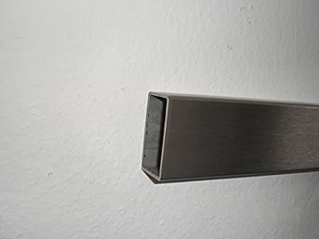 Edelstahl V2A Geschliffen Rechteckrohr L/änge 1000 mm 30x10x1.5mm