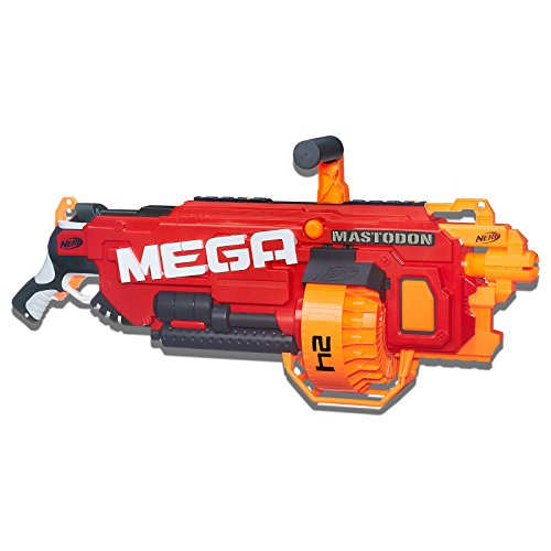 Nerf Mega - Mastodon Motorised Blaster inc 24 official Mega Darts - Kids Toys and Outdoor games - Ages 8+