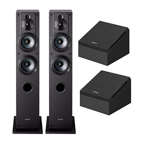 Sony SSCS3 Stereo Floor-Standing Speaker (2 Speakers) w/Sony SSCSE Dolby Atmos Enabled Speakers (SS-CSE. 2 Speakers)