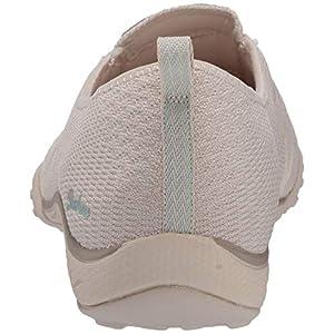 Skechers Breathe-Easy-A-Look, Zapatillas Mujer, Beige (Nat Gray Soft Knit Mesh/Peach Trim), 37 EU