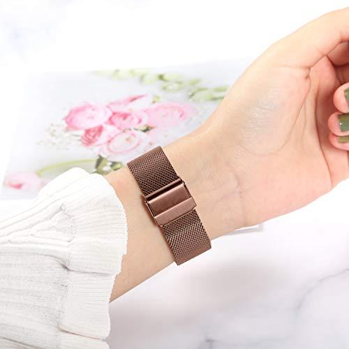 TRUMiRR Ersatz für Galaxy Watch 3 41mm Mystische Bronze Armband, Mesh Gewebt Edelstahl Uhrenarmband Quick Release Armband Business Ersatzband für Samsung Galaxy Watch3 41mm Smartwatch