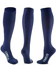 CAMBIVO Calcetines de Compresion Mujer (3 Pares), Medias de Calcetines Hombre, Calcetines Compresivos para Correr, Running, Ciclismo, Deporte, Futbol, Viaje