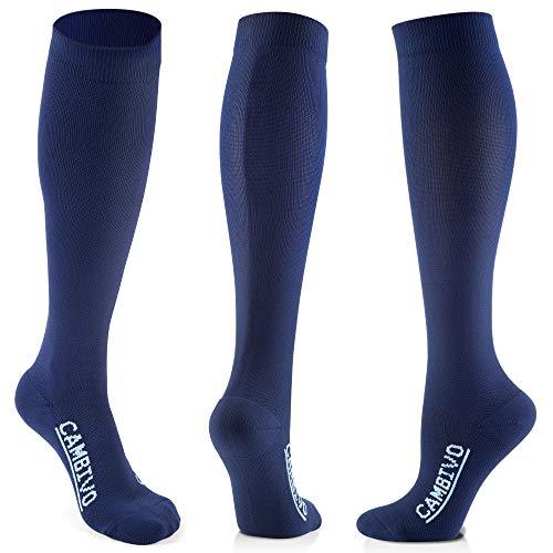 CAMBIVO 3 Paia Calze a Compressione Graduata Donna e Uomo, antiscivolo elastiche sportivo calzini per running, calcio, ciclismo