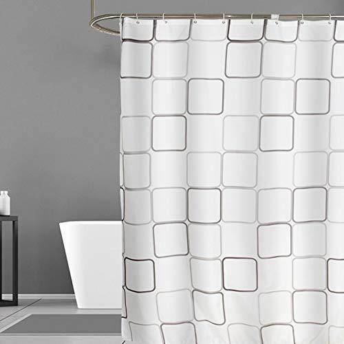 JS-Bonita Großen quadratischen Polyester-Tuch Duschvorhang wasserdicht Mehltau Bad Vorhang (Farbe : 280 * 200 cm)