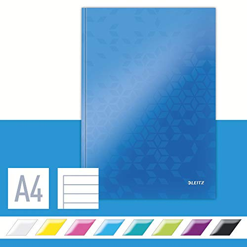 Leitz 46251036 Notizbuch WOW, A4, liniert, blau metallic