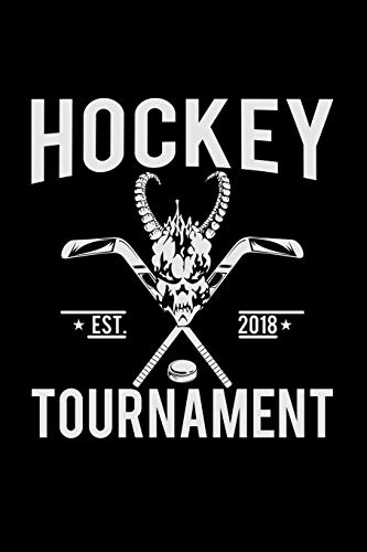 Hockey Tournament Est. 2018: 6x9 Hockey | lined | ruled paper | notebook | notes