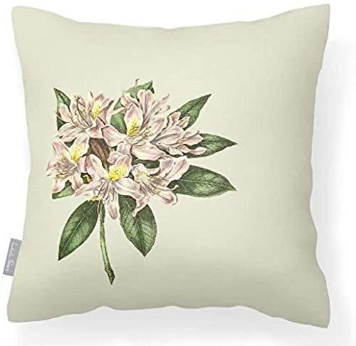 BQP Outdoor Gartenkissen wasserdichte GraphitHortensie Atmungsaktive Lakeland Kollektion, Vintage Rhododendron - Creme