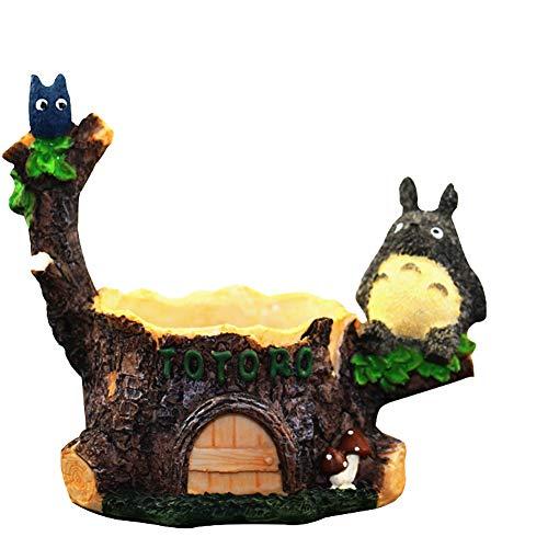 AZWER Plantas suculentas Maceta Decorativa Interior, Resina Maceta, Animal Anime Animal Creativo Gato, Plantas suculentas plantador Mini casa jardín decoración Bonsai Escritorio artesanías