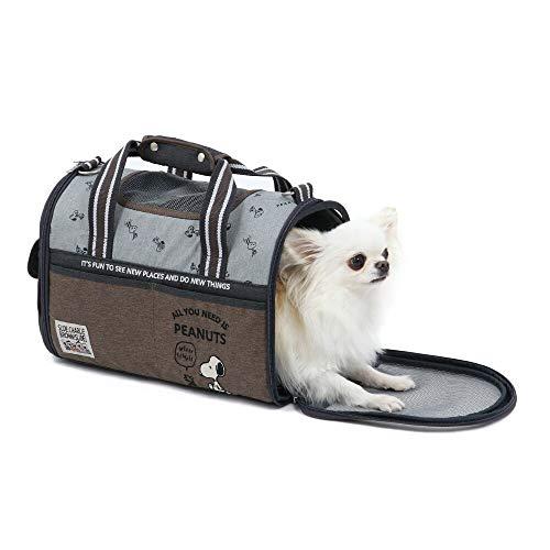 NEW ペットパラダイス スヌーピー ブラウン 折り畳み キャリーバッグ 【超小型犬】 散歩 通院