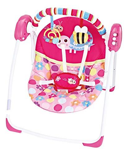 Cadeira de Descanso Automática para Bebê 11kg - Swing Rosa - Star Baby