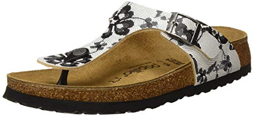 Birkenstock Gizeh, Chanclas para Mujer, Multicolor (Lace Black New Lace Black New), 37 EU