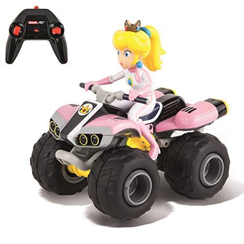Carrera RC Nintendo Mario Kart 2.4 GHz Radio Remote Control Toy Car Vehicle - Peach Quad